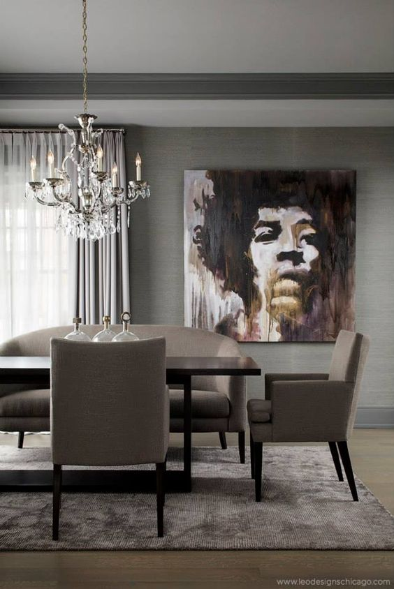 Sophisticated dining room//