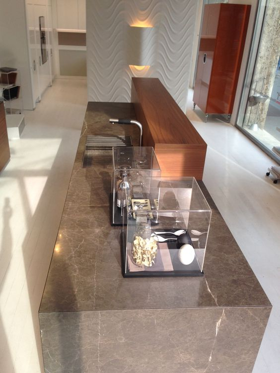 love the island in this aster cucine kitchen available at astro