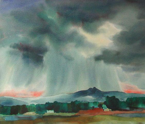 Gene Kloss (1903-1996) - Rain Cloud at Evening