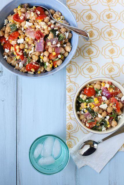 chickpea roasted veggie salad by annieseats, via Flickr