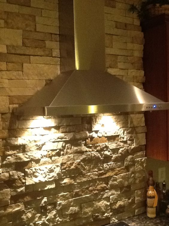 Stacked Stone Walls Vent Hood And Stacked Stones On Pinterest