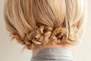 Cute up do for busy work days! @Anna Totten Garrett for when your hair gets longer? :)