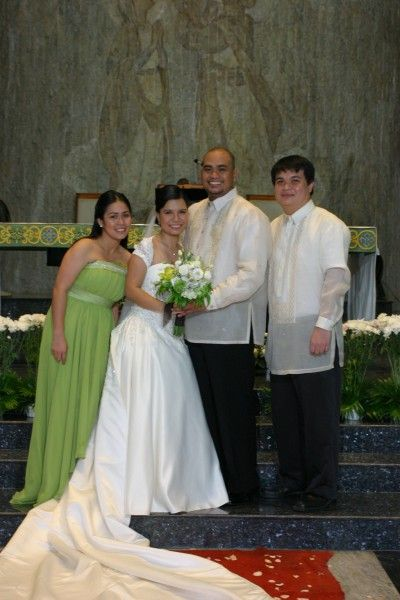 with the maid of honor & best man