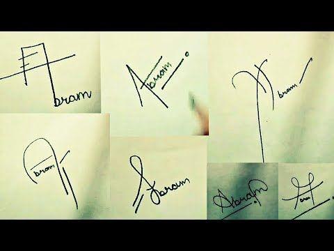 How To Draw Signature Like A Billionaire For Alphabet A