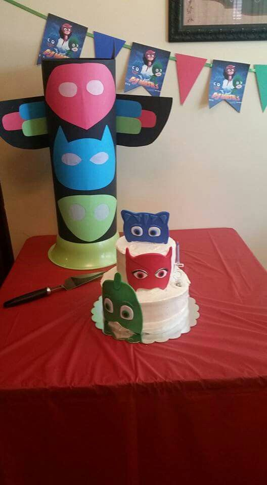 Birthday Cake Images Hq : PJ Mask birthday party cake, HQ and banner Bella s ...