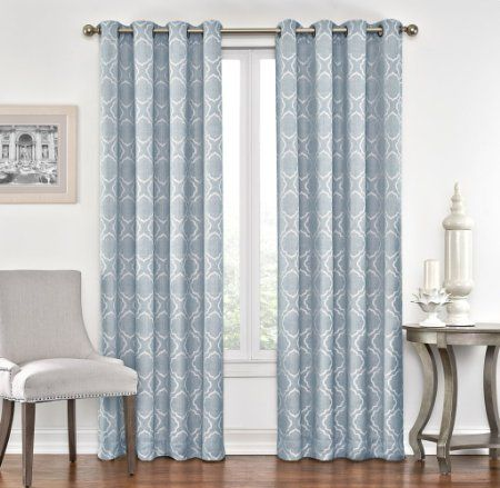 Curtains Ideas 54 curtain panels : 2 Piece GEO Jacquard Grommet Window Curtain Panels 54