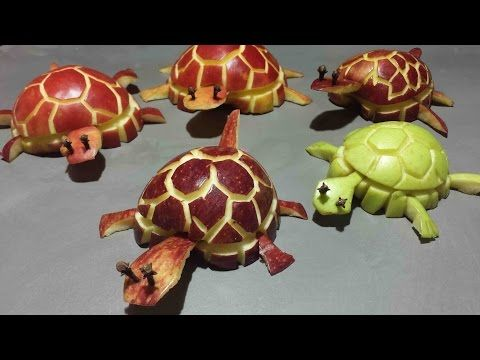 Art In Watermelon Turtles - Fruit Carving Garnish - Party Garnishing - Food Decoration - YouTube