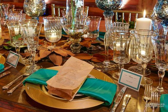 Natural elements dipped in shades of metal with touches of blue. The chain represents a series of objects, people or events which are connected to one another. The dinner, hosted by Catering with a Twist, was a memorable event. Lighting done by Ilios Lighting and the incredible images taken by Jerry Hayes Photography.The event took place at the lovely Brodie Homestead.