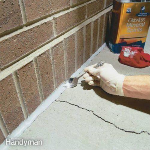 How To Caulk Concrete Cracks Homerepair Repair Cracked Concrete Home Repairs Diy Home Improvement