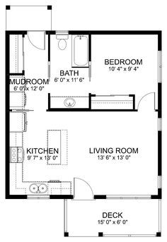 Pin By Missy Hopper On Retirement Idea In 2020 Small House Floor Plans One Bedroom House Guest House Plans