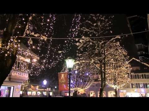 Weihnachtliches Garmisch Partenkirchen - Christkindlmarkt und Fußgängerzone