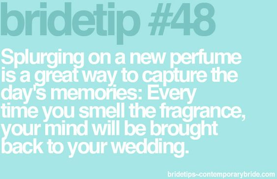 Cannot recommend this enough!!! Every time I spray my wedding day perfume, all I can think of is that day, such a special feeling. So glad I bought a new one that I'd never worn before, and now it's usually all Mrs Lewis wears <3