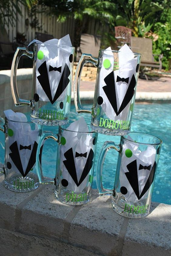 For the groomsmen!  Perfectpairparties1 on Etsy    And the bridal party should have a similar idea, but with margarita glasses!