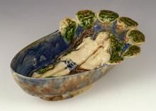 18th C. Italian Majolica Serving Dish,  with image of Adam and Eve