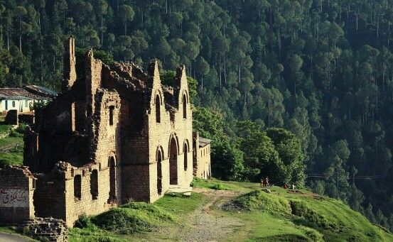 remains of a once beautiful church in Abbottabad