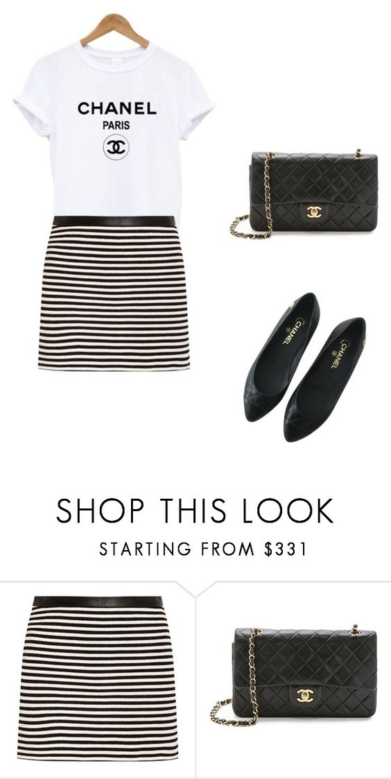 """Bez naslova #240"" by mitzi9 ❤ liked on Polyvore featuring T By Alexander Wang and Chanel"