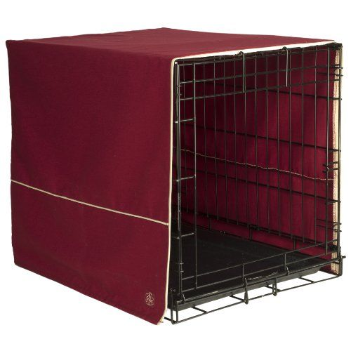 Pet Dreams 30 by 20-Inch Classic Crate Cover, Medium, Burgundy - http://www.thepuppy.org/pet-dreams-30-by-20-inch-classic-crate-cover-medium-burgundy/