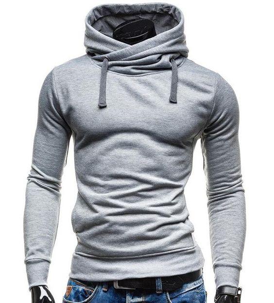 M/&S/&W Mens Fashion Splice Pullover Long-Sleeves Slim Fit Letter Print Gym Sweatshirt