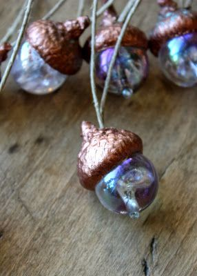 lil fish studios: making acorn ornaments with the kids