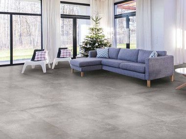 Cement Fusion Mid Grey Matt Porcelain Floor Tile 600 X 1200mm Living Room Tiles Flooring Style Tile