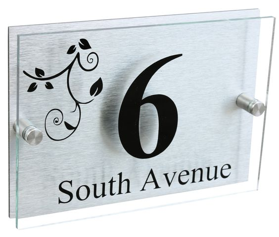 A5 | Designer House Sign Plaque | Leaves Design