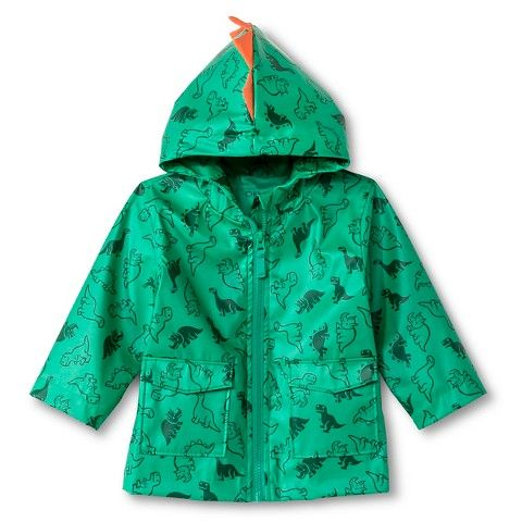 Toddler Boys' Dinosaur Print Rain Coat with Hood