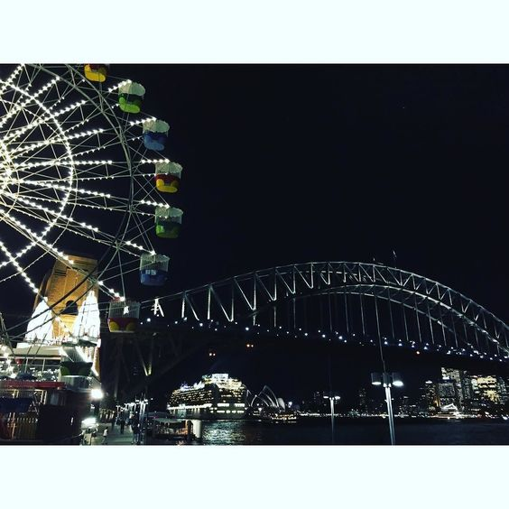 Drinks with the best view in town! #sydney #lunapark #sydneysider #seeaustralia #nsw #VisitNSW #beautifulworld #nightshotsofcities #cruiseship #sydneyharbourbridge #sydneyoperahouse #oz #pocruises #cruiselings #ferriswheel #nightlights #beautifulworld #iphone #sydneylifeinc by lkgphotos http://ift.tt/1NRMbNv