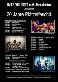 Lineup: Freitag, 21. August 2015 18:00 - 18:45 Final Fortune 19:00 - 19:45 Call of the Sirens 20:00 - 20:45 SENSLES 21:00 - 21:45 The Perfect Crime tribute to