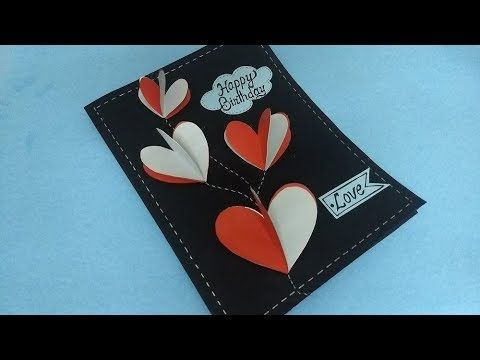 Easy Quick Diy 3d Heart Design Greeting Card Simple Handmade