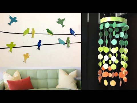 5 Easy Paper Room Decor Ideas Diy Best Out Of Waste Wall