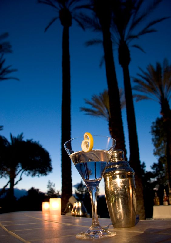 Enjoy a martini and a relaxing evening on the terrace at Hyatt Regency Indian Wells Resort & Spa. #California