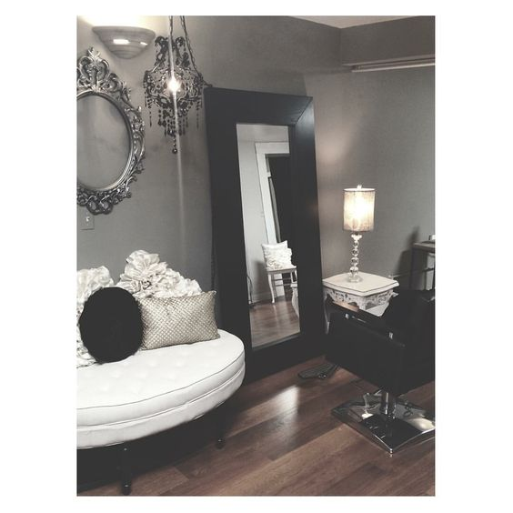 salons decor shabby chic salon and extensions on pinterest. Black Bedroom Furniture Sets. Home Design Ideas