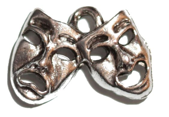Drama Mask - Silver – Charming LDS Gifts