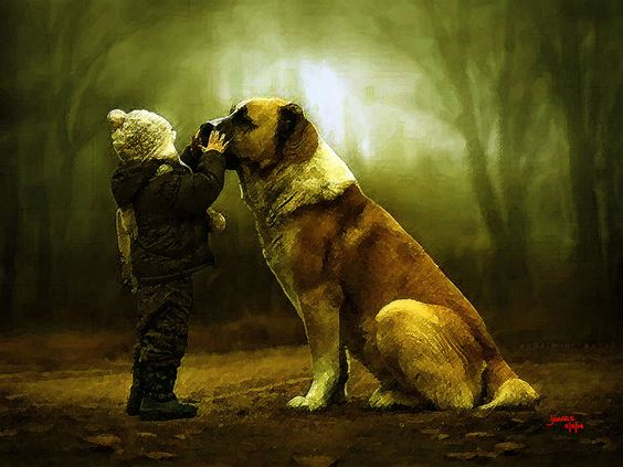 My Big Pet Dogs don't laugh, but they do better they wag their tails, when they are happy.