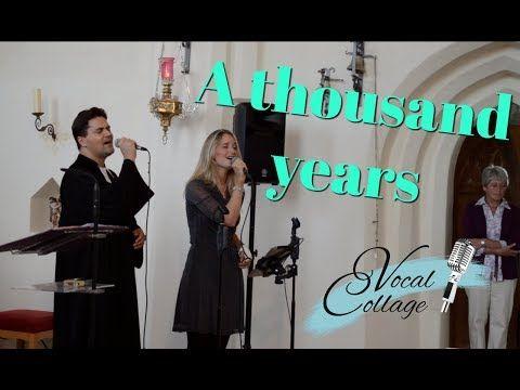 Hochzeitslied A Thousand Years Vocal Collage Sangerin Lila Und Der Singende Pfarrer J Rohrbach Youtube Hochzeitslieder Sangerin Hochzeit