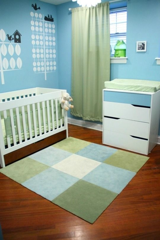 Green And Blue Nursery Decor Baby Color Palette