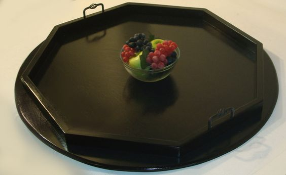 Trays For Ottomans Amy S 32 Quot Round Black Ottoman Tray