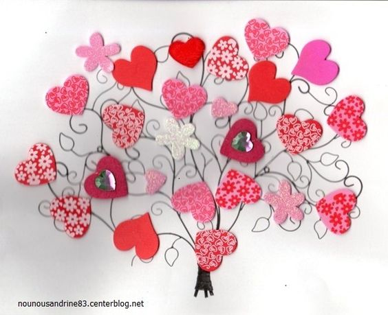 Activit manuelle toulon ouest activit manuelle arbre coeur de saint valentin rubrique - Activite manuelle st valentin ...