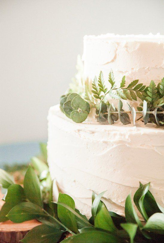 Simple Wedding Cake Ideas Small Two Tier Greenery Greens White Fox Flor Watercolor Floral Wedding Invitations Teal Wedding Colors Wedding Cake Options