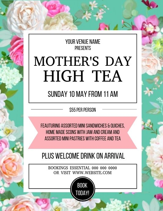 Mother S Day Brunch Event Flyer Template Event Flyer Templates Event Flyer Mothers Day Poster