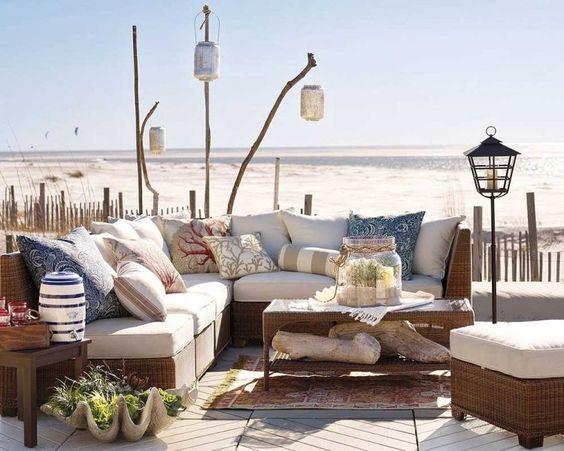 Am nager coin lounge sur terrasse avec salon jardin de style pi ces de monnaie d coration et - Coin terrasse jardin argenteuil ...