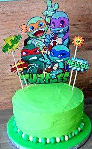Pastel Tortugas Ninja @crissosweet en www.crissosweet.com