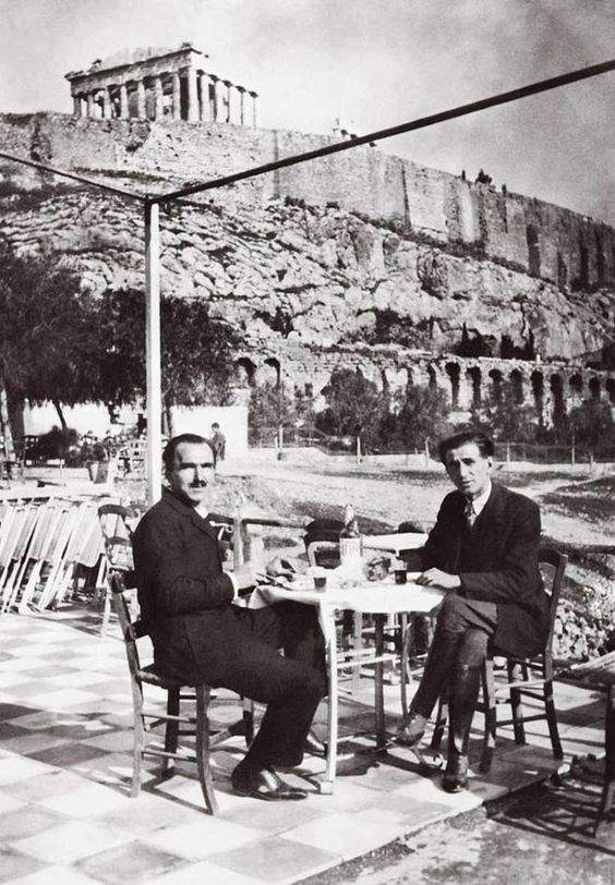 Nikos Kazantzakis and Romanian writer Panait Istrati, under the Acropolis (1928):