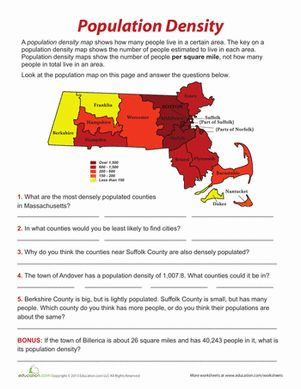 Printables Population Density Worksheet population density student the ojays and teaching fifth grade division geography graphing data worksheets density