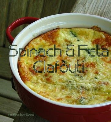 Spinach and Feta Clafouti...yummy! | Food | Pinterest | Feta and ...