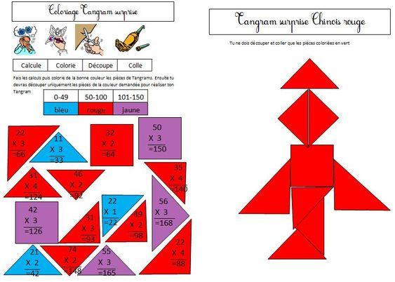 Le chinois multiplication posée par 2 3 ou 4
