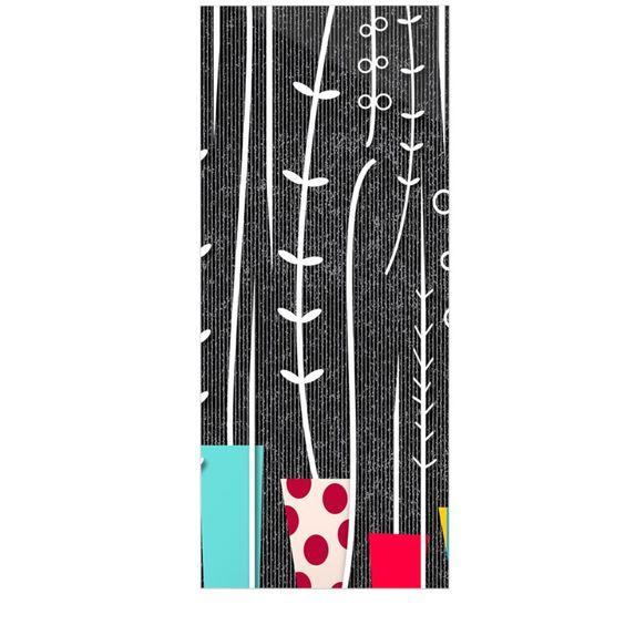 """Danny Ivan """"Wild Plants"""" Black White Luxe Rectangle Panel"""