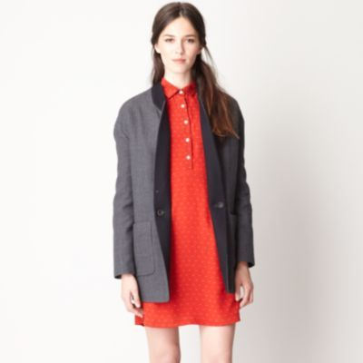 Fabric Patched Lapel Jacket by O'2ND