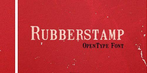 Rubberstamp, typeface