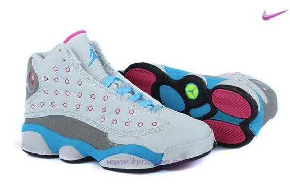 vendita scarpe on line Bianco/Grigio/Blu/Rosa AIR JORDAN 13 RETRO Miami Vice